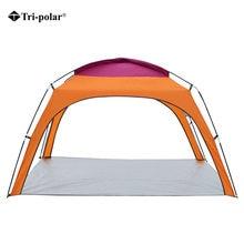Трехполярная палатка для 4 человек Ультралегкая Пляжная кемпинга