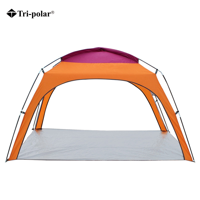 Tri-polar 4People Beach Tent Ultralight Beach Camping Tent Sun Shelter Large Outdoor Folding Awning Wind-resistant Tente Anti-UV outdoor summer tent gazebo beach tent sun shelter uv protect fully automatic quick open pop up awning fishing tent big size