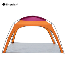 Tenda Tri-polare 4People Beach Ultralight Camping Camp Tenda Sun Strehimor i jashtëm i gjerë Folding Awning Tavan anti-UV rezistent ndaj erës