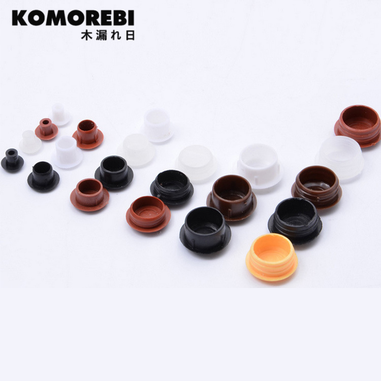 KOMOREBI Furniture Hole Plug 50pcs/lot Decoration Cap,Plastic Screw Hole Cap Cover,home Wood Furniture Cap Cupboard Screw