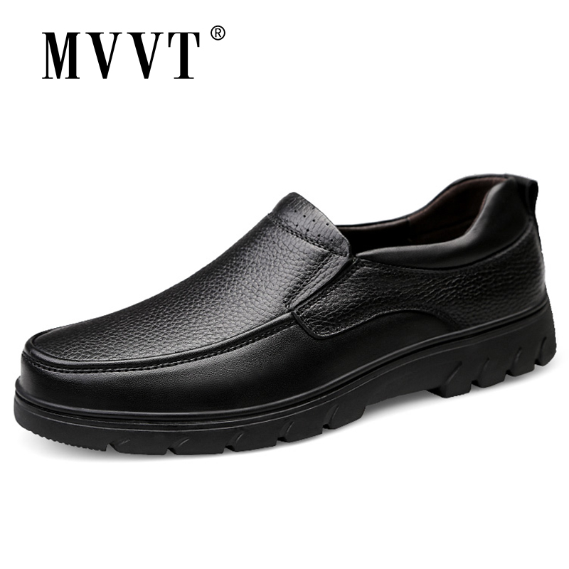 Plus Size 47 Genuine Leather Shoes Casual Shoes Slip On Men Loafers Shoes Height Increasing Business Leather Men Flats Shoes