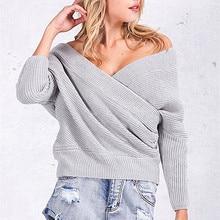 Batwing manga v-cuello suéteres mujeres moda oversized shrug suéter otoño  invierno cálido suéter largo b7d85fa70e3c