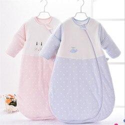 Baby forniture bambino sacco a pelo e di inverno di spessore del bambino del cotone kick trapunta bambino sacco a pelo e di inverno rosa blu Copertine avvolgenti 0-24 M