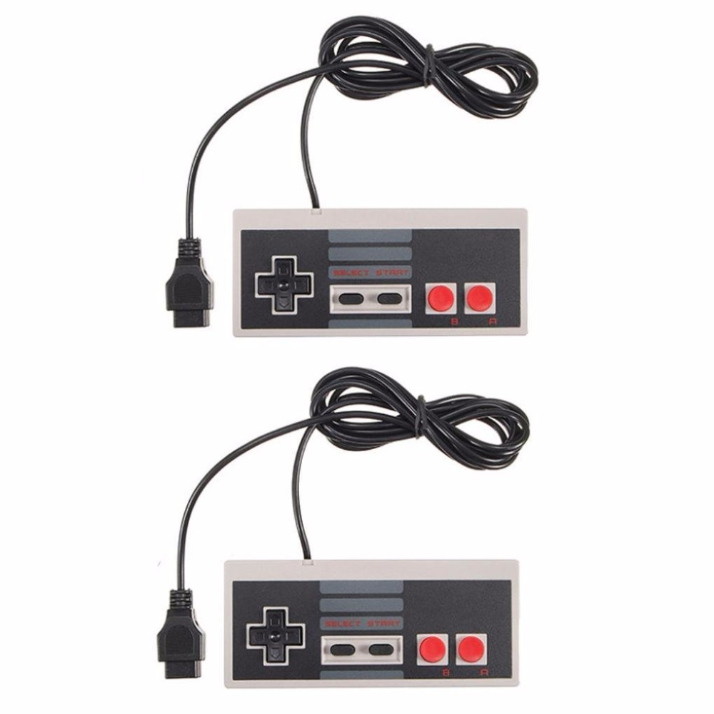 2pcs 4red button controller for Mini TV Handheld Game Console Video Game Console For Joypad for 9 pin 8bit games console