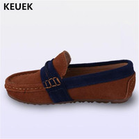New Children Dress Shoes Genuine Leather Loafers Boys Leather Shoes Baby Toddler Moccasins Student Kids Parental Shoes 041