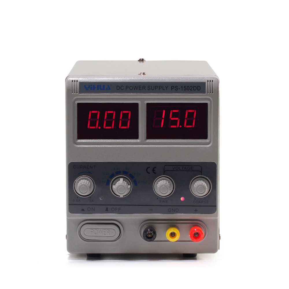 YIHUA 1502DD Digital Adjustable DC Power Supply LED Display Mobile Phone Repair Test Regulated Power Supply куртка helium куртки короткие