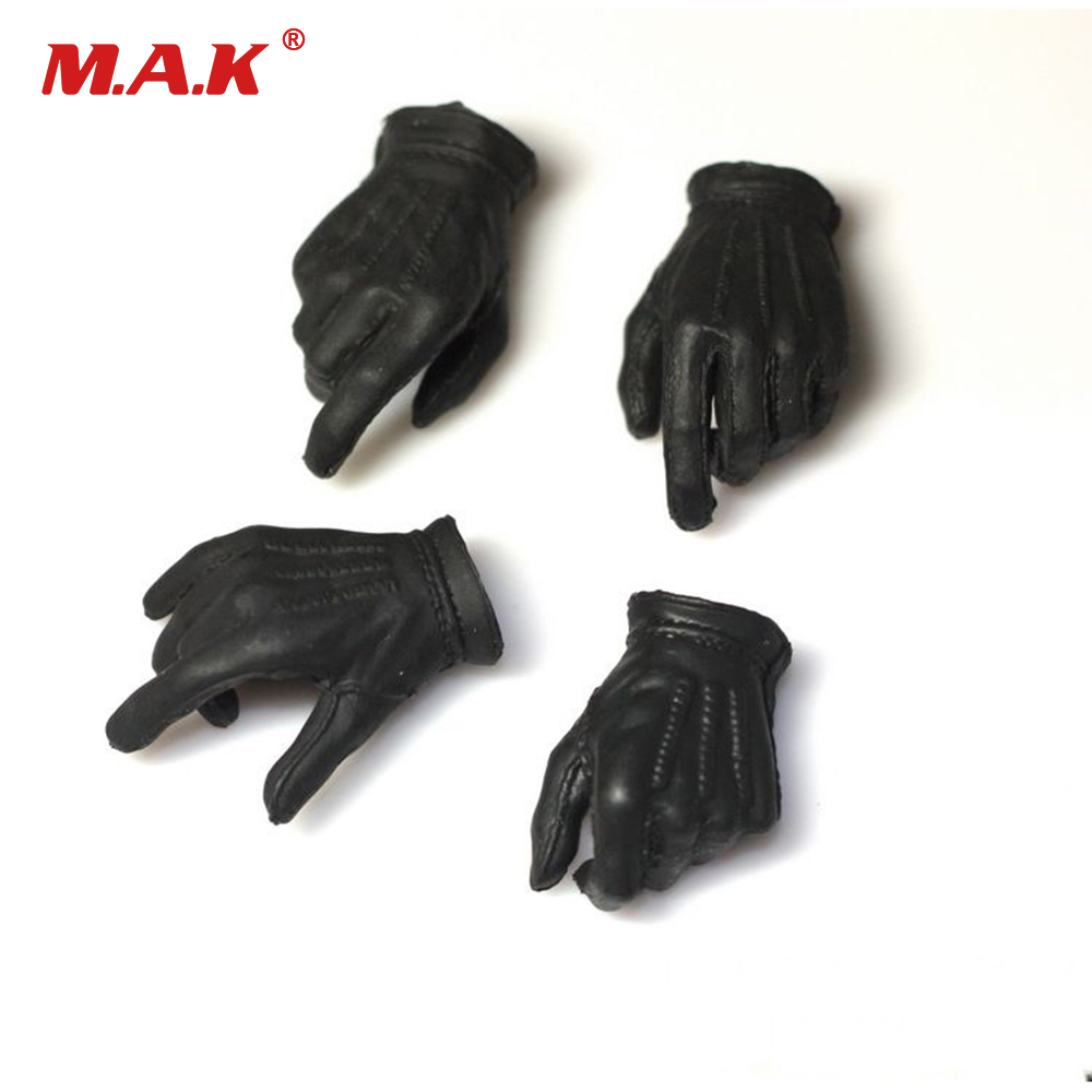 1/6 Scale Robbers JOKER 2.0 Black Gloves Hand Type in Perfect Matte Fit 12'' HT Action Figure Doll Body Toys Accessories 1 6 scale figure doll batman joker clown robbers version 12 action figure doll collectible figure plastic model toys no box