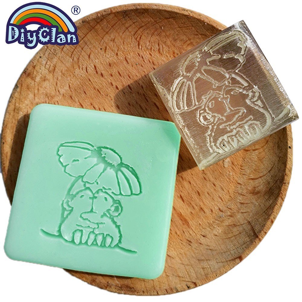 Marmot style handmade resin soap stamp custom DIY new resin Soap printed mold pattern Cartoon mouse soap chapter Z0107LS