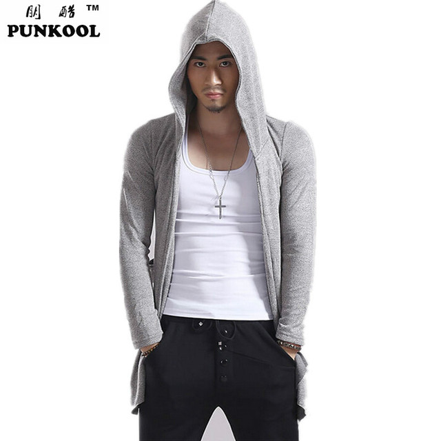 PUNKOOL Autumn Mens Knitted Cardigan Outwear Korea Style Hooded ...