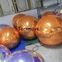 Brightness Shine Green blue inflatable pvc Mirror Ball Sphere wedding Party Decoration Reflective Balloon Bar Disco Ball