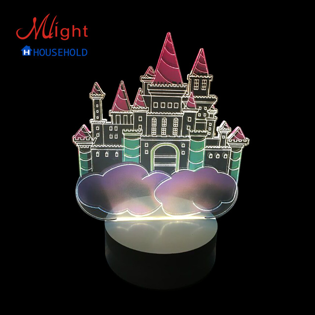 Bedside LED Table Lamp Cartoon Castle Night Light for Children Novelty Decorative Lighting Light
