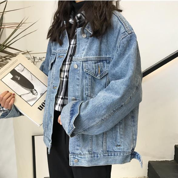 New Autumn Women Denim Jacket 2018 Bf Wind Jean Jacket Loose Long Sleeve   Coats   Large Size Jacket