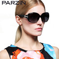 Parzin  Women Sunglasses Fashion Luxury Rhinestone Polarized Female Sun Glasses Gafas De Sol With Case 6214
