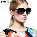 Parzin párroco Gafas De Sol De moda De lujo Rhinestone Polarized Gafas De Sol Gafas De Sol con el caso 6214