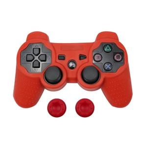 Image 5 - Capa protetora de silicone pele + vara analógica aperto para sony ps3 controlador caps capa para ps2/ps3/ps4 gamepad camuflagem