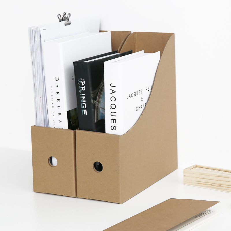 Cardboard Paper Magazine Office File Bankers Boxes Book Desk Decor Interesting Bankers Box Magazine Holders