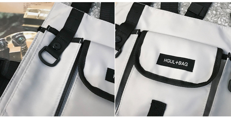 saco náilon impermeável streetwear frente pacote bolsa kanye west peito rig saco