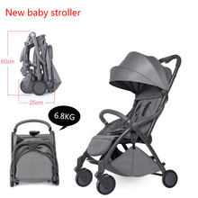 лучшая цена Travel Baby Umbrella Stroller Lightweight Folding 175 Degree Can Sit Can Lie Ultra-Light Portable Stroller On The Airplane