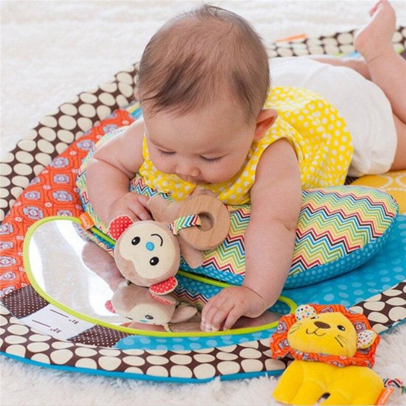 Newborn Baby Soft Mat Round Cartoon Carpet Blanket Play Baby Game For Children Play Bed Carpet