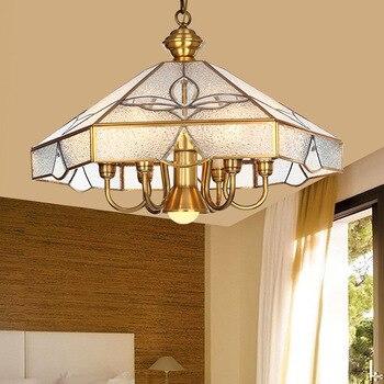 Otantik avize bakır tam Avrupa kolye lamba tarzı lamba antika restoran eğlence Amerikan yatak odası lambası LU623 ZL140