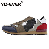 european rivet spring stud canvas trainers designer shoes men luxury 2019 camouflage brand runway sneakers famous flats suede