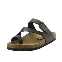 Mlanxeue 2017 Nueva Playa de Verano Zapatilla Corcho Hombres Flip Flop Sandalias de Hombre Negro de Color Blanco Ocasionales Planos antideslizantes zapatos