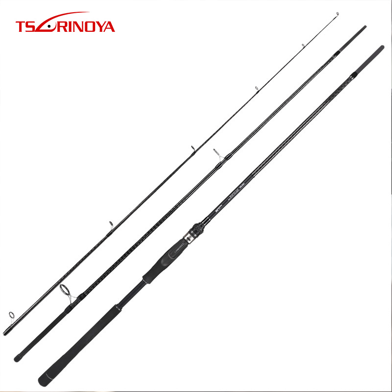 TSURINOYA TYRANTS 2.4m MH/2.7m M/3m M/3.3m M Bass Rod Distance throwing Spinning Rod FUJI Guide Fishing Lure Rod daijia 2 4 m 2 7 m 3 m 3 6 meters of high carbon distance throwing rod fishing rod lure rod superhard telescopic fishing rod