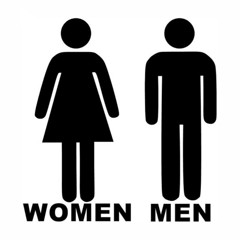 52463e303bedf1 14.3   15 CM salle d eau hommes femmes autocollants de voiture ...