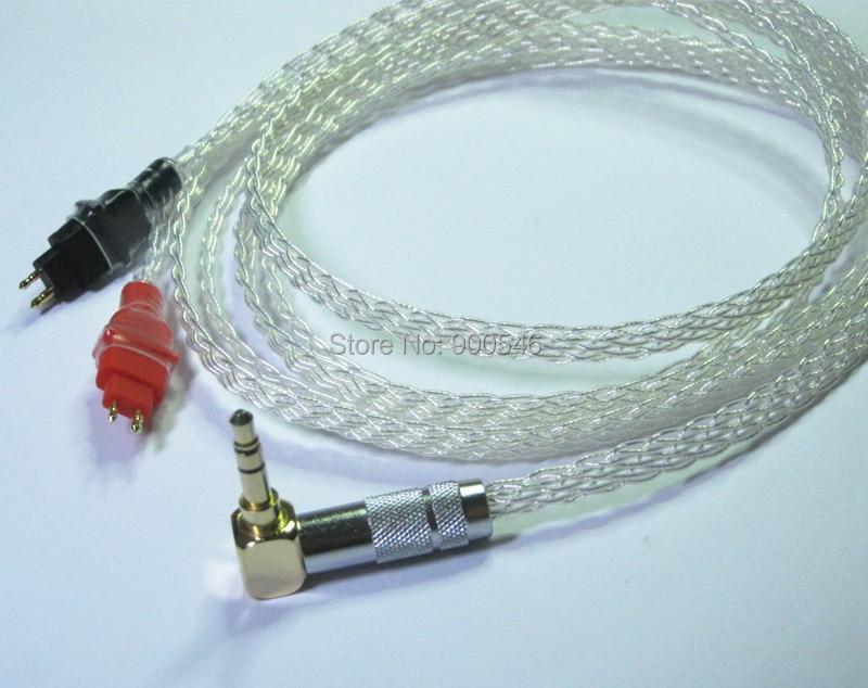1.2m 4ft Handmade 8 core Flat trenzado Bañado en plata Cable de - Audio y video portátil - foto 2