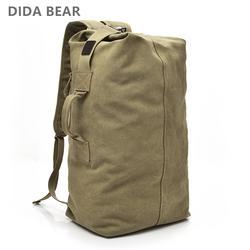 2018 большой ёмкость рюкзак Человек Дорожная сумка, сумка для альпинизма мужской Чемодан Обувь для мальчиков холст ведро сумки на плечо для
