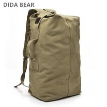7f50b795 2018 большой Ёмкость рюкзак Человек Дорожная сумка альпинизм рюкзак мужской  Чемодан мальчиков холст ведро сумки на