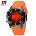 TTLIFE LED Watches 7 Colorful Backlight Mens Outdoor Sports Running Silicone Band Electronic Waterproof Digital Wrist Watch Men