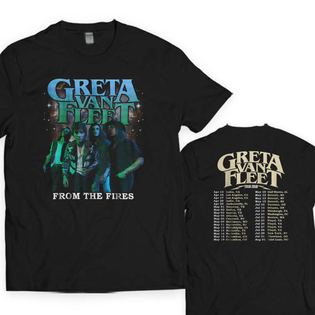 New GRETA VAN FLEET TOUR DATES 2018 Black T-Shirt S-5XL  LeS Men T-Shirt  Men Clothing Plus Size Top Tee Clothing Tops Hipster 329e39d02