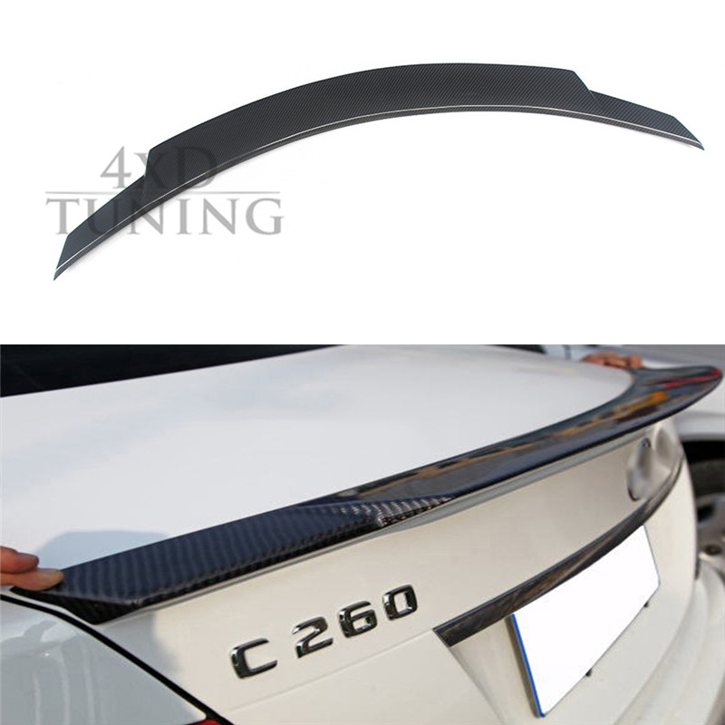 For Mercedes W205 Spoiler C Class W205 C180 C200 C220 C250 C300 Carbon Fiber Rear Spoiler Trunk Wing 2014 2015 2016 C74 Style mercedes w211 carbon fiber amg look spoiler back trunk rear wing for benz e class w211 2003 2009 e320 amg style spoiler