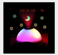 The Romantic Dreaming Stars Projection Alarm LED Electronic Alarm Mute Multifunctional Lazy Luminous Projection Clock