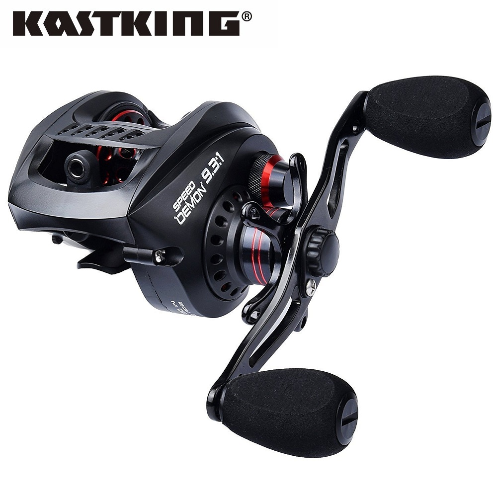 KastKing Speed Demon 9.3: 1 Baitcasting Reel Fishing Gear Ratio 9.3: 1 Più Veloce Baitcaster Bobine di Sistema Frenante Magnetico Richiamo di pesca