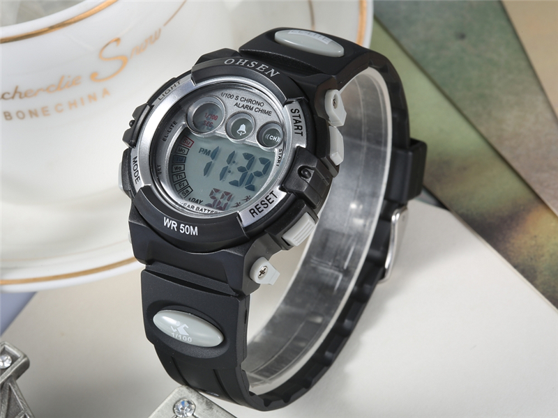 OHSEN Fashion Children Sports Watches Waterproof 5ATM Kids LED Digital Watch Student Outdoor Hand Electronic Clock Montre Femme (21)