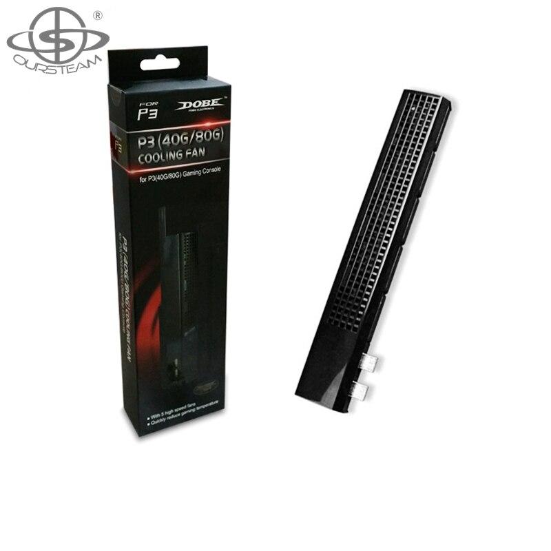 OURSTEAM черные туфли высокого качества USB 40 мм вентилятора охлаждения вентиляторы для sony Playstation 3 игровой консоли
