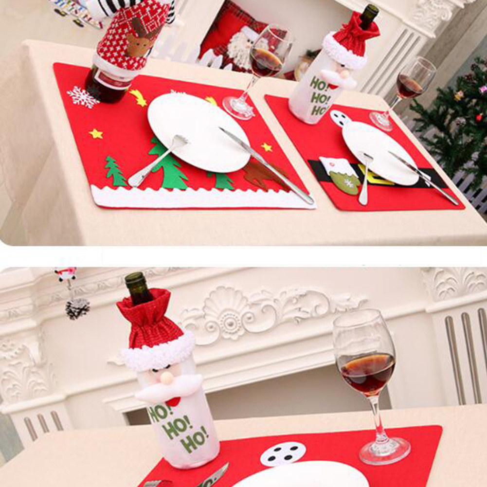 sanyi non woven christmas table mat fork knife placemats deer napkins cloth decor cover xmas decoration tool for home gadgets in party diy decorations from - Christmas Napkins Cloth