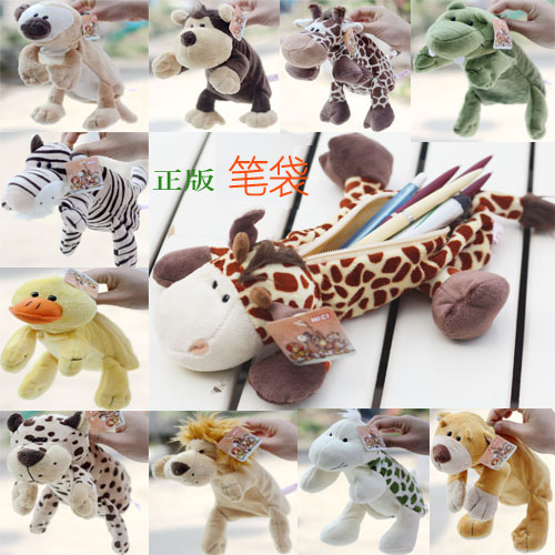 Kawaii Cartoon Plush Pencil Case Cute Animal Pen bag Box For Kids School Supplies Material Korean Stationery
