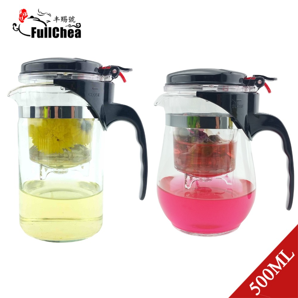 Glass Teapot Coffee Maker : 500ml Style A or B Heat Resistant Glass Teapot Chinese Tea Set Puer Kettle Coffee Glass Maker ...
