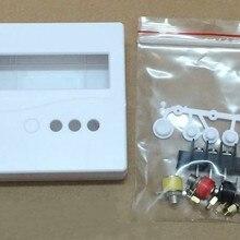 86 Пластик ящик проект корпус чехол для DIY метр тестер LCD1602 с металлической кнопкой