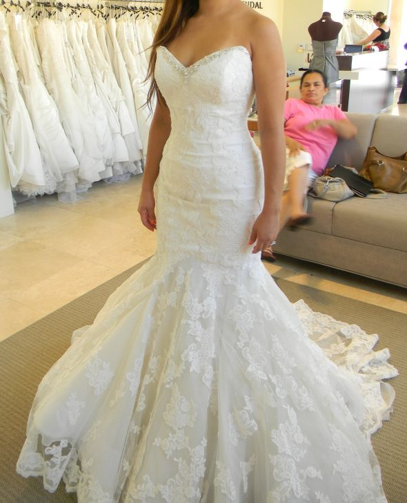 Popular Mermaid Wedding Dress with Bling Lace-Buy Cheap Mermaid ...