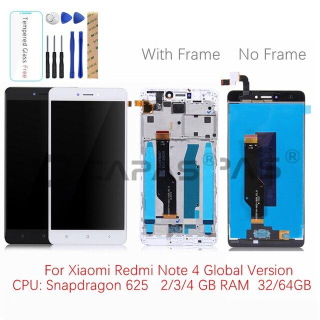 Pour Xiaomi Redmi Note 4 Mondiale Gb 64 LCD Affichage Cadre Ecran Tactile Panneau