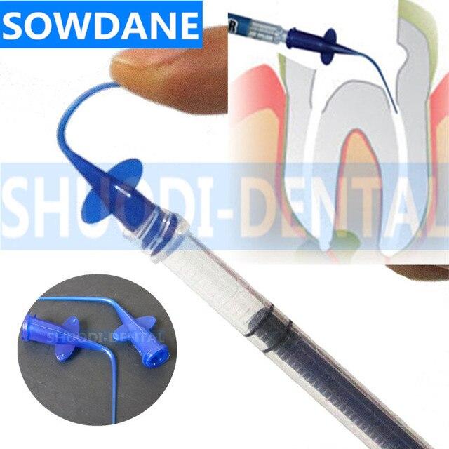Desechables de riego enjuague consejos Dental Blanqueamiento Dental compuesto Flexible de la resina enjuague punta Endo de aguja