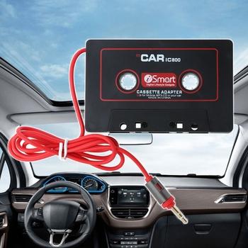 1 Pc 3 5mm Auto Car AUX taśma audio adapter do kaset konwerter samochodowy odtwarzacz cd MP3 wysokiej jakości akcesoria samochodowe tanie i dobre opinie OOTDTY other Volkswagen GOLF 2002 Black Car Cassette Tape Adapter ABS Plastic Angielski 2 5 110cm