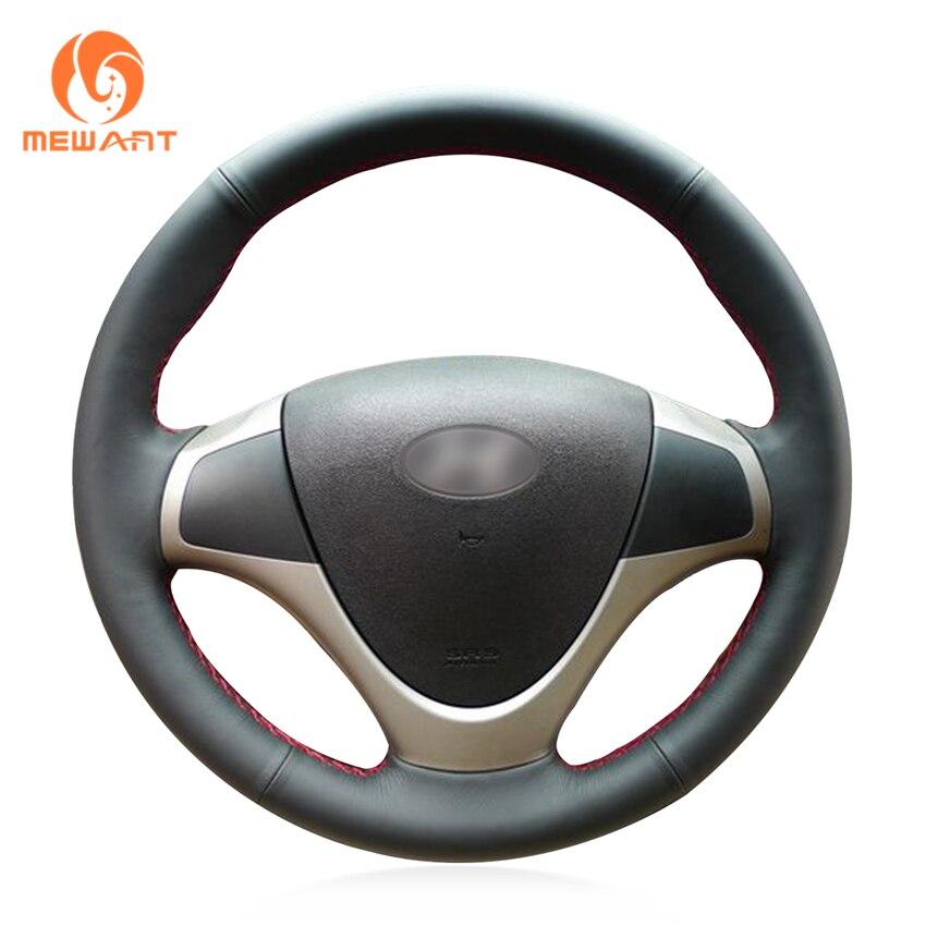 цена на MEWANT Black Artificial Leather Car Steering Wheel Cover for Hyundai i30 2009 2010 2011 Elantra Touring 2010 2011 2012