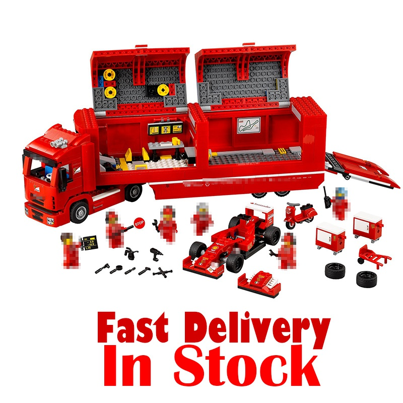 Лепин 21010 914 шт. техника Супер гоночный автомобиль серии красный грузовик образовательные строительные блоки кирпичи игрушки для детей пода...