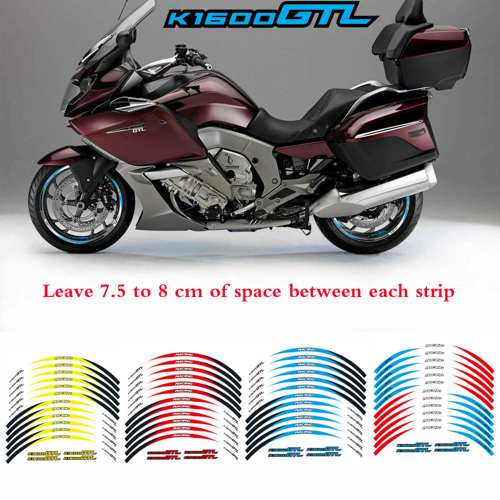 For bmw k1600gtl 17 motorcycle custom rim stripes wheel decal tape sticker
