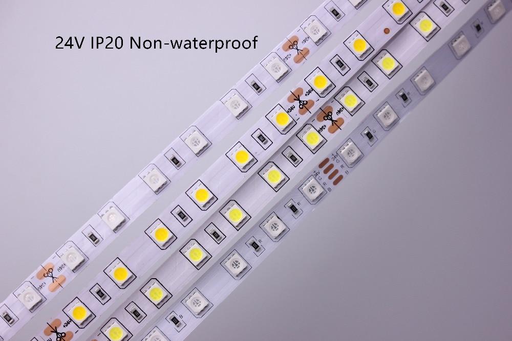 HTB1FlGOzMKTBuNkSne1q6yJoXXa6 SMD 5050 RGB LED Strip Waterproof 5M 300LED DC 12V 24V CCT RGBCCT  RGBW RGBWW WHITE WARM WHITE Fita LED Light Strips Flexible